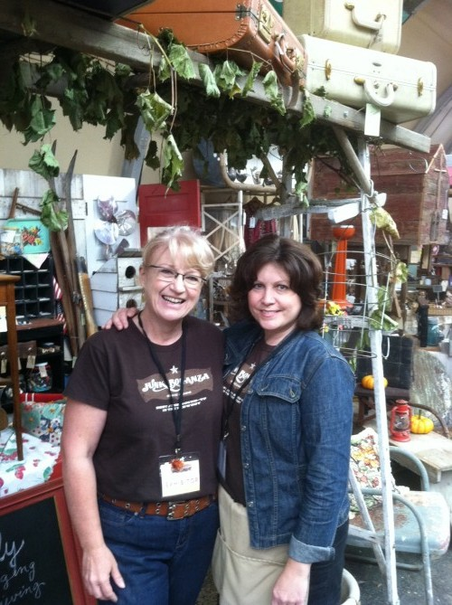 Dawn and I in front of the Storehouse booth.
